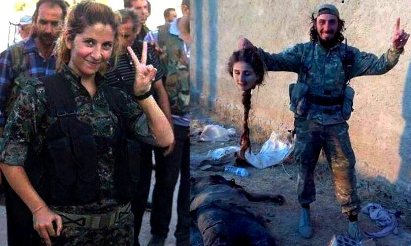Kurdish female fighter beheaded by ISIS jihadi