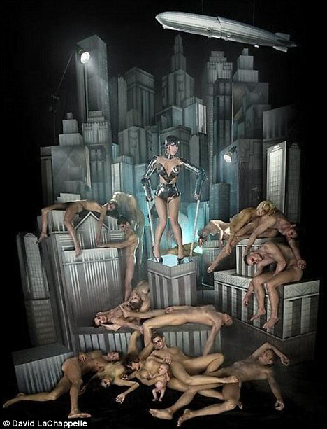 Lady Gaga as evil Maria android in Metropolis
