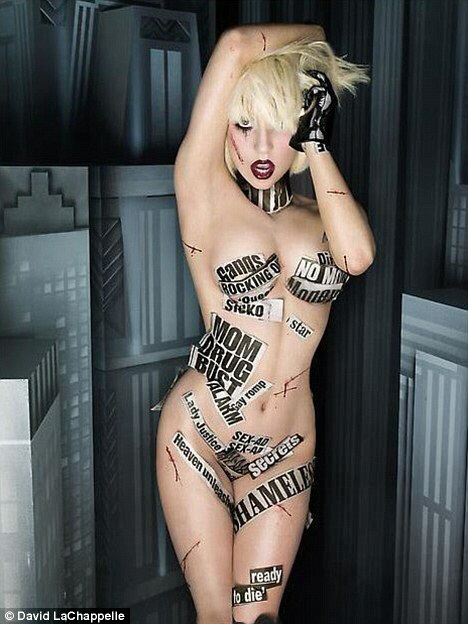 Lady Gaga as 'the naked whore of Babylon'