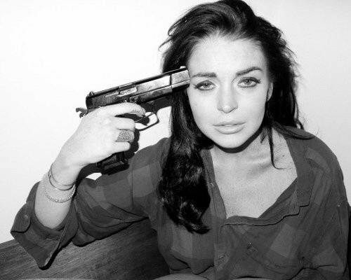 A disturbed-looking Lindsay Lohan teases us with suicide