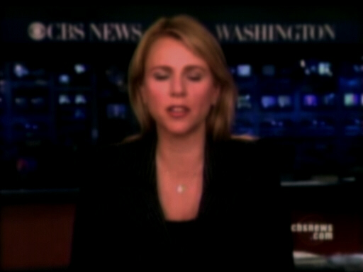 Lara Logan at set of CBS News