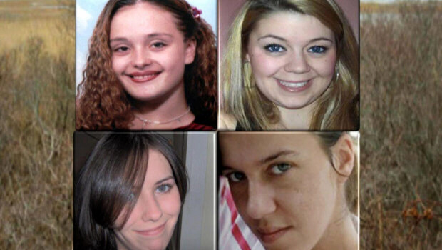 The first four discovered Long Island murder victims