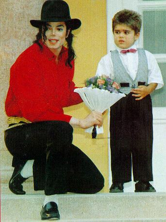 Michael Jackson and little boy