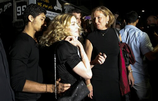 Madonna and Kadima party leader Tzipi Livni