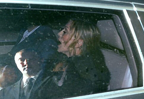 Madonna in her car after the concert, exhausted and terrified