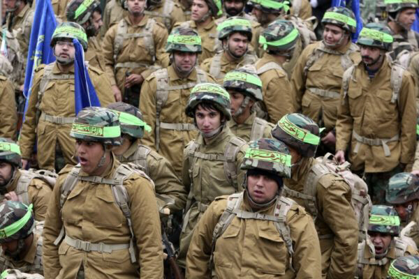 Members of the Iranian paramilitary Basij force