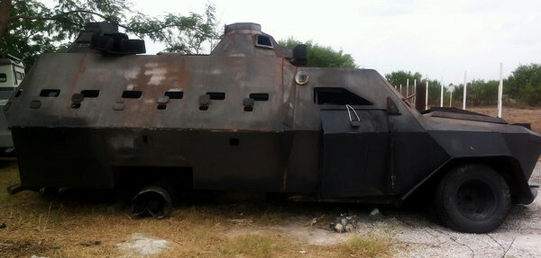 Mexican 'Mad Max' tank
