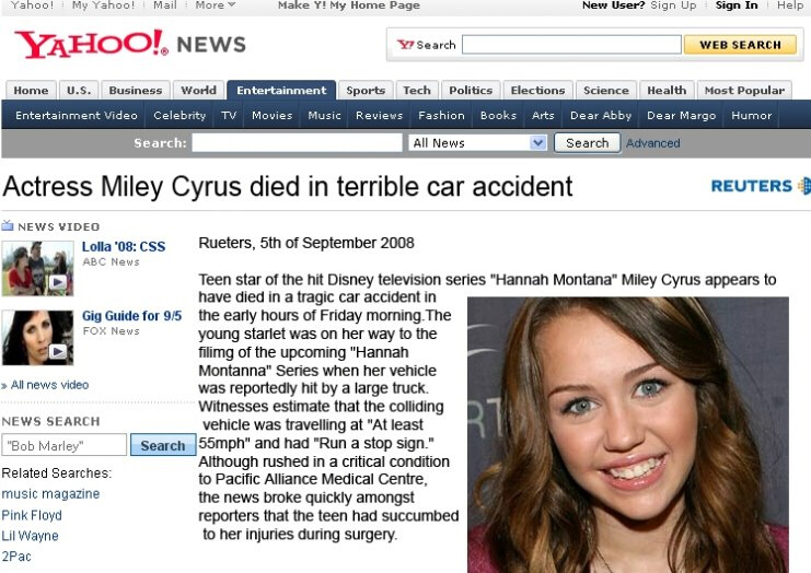Miley Cyrus dead: Hoax Report copy