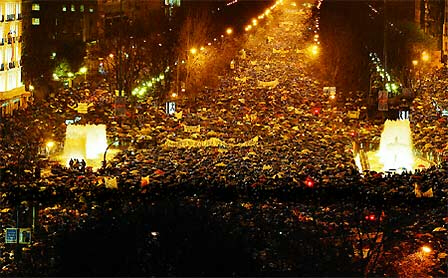 Millions gather in the streets of Paris, Athens, Madrid, Milan and London