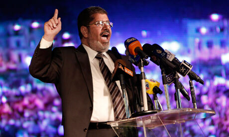 Mohamed Morsi speaks at rally in Cairo