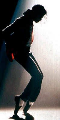 Jackson invented the moonwalkin' dance craze on his video 'Billie Jean'