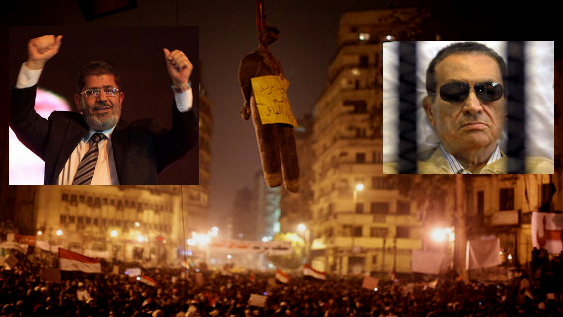 Morsi or Mubarak to be hanged?