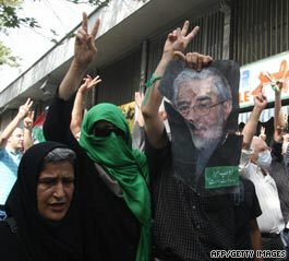Moussavi supporters chant 'death to the dictator'