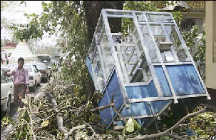 Myanmar cyclone damage