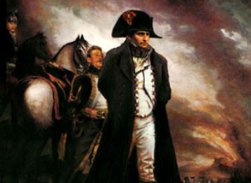 Napoleon defeated at Waterloo