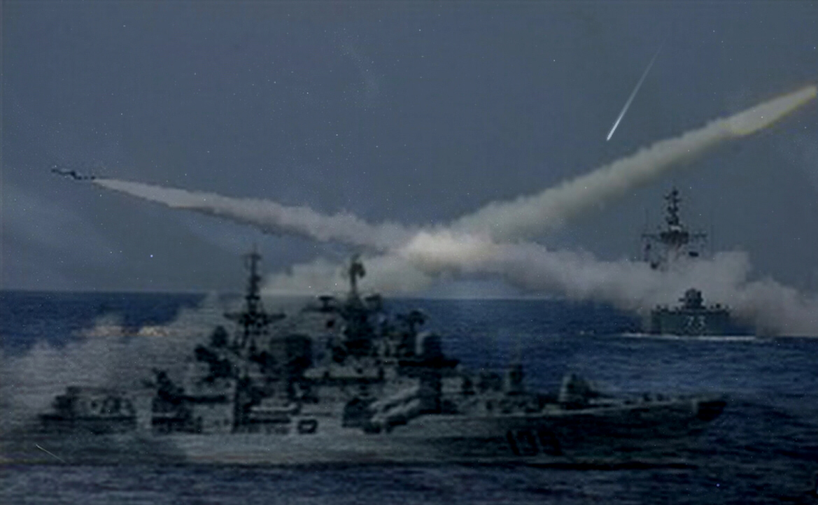 Naval battle in the Mediterranean