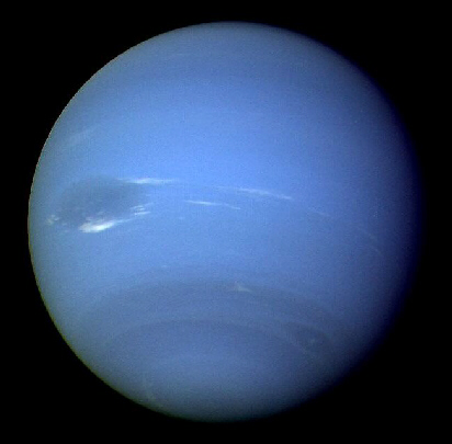 Neptune as seen by Voyager 2 in 1989
