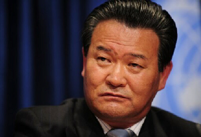 North Korean ambassador to the UN Sin Son Ho