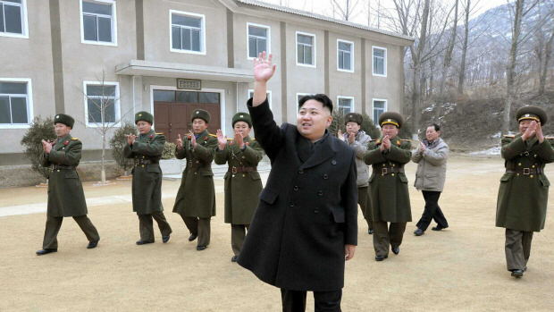North Korean leader Kim Jong-un visits the Korean People's Army