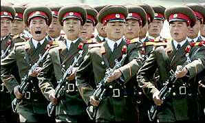 North Korean active military is 1.1 million strong