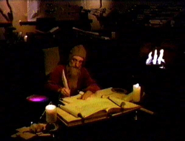 Nostradamus in his study