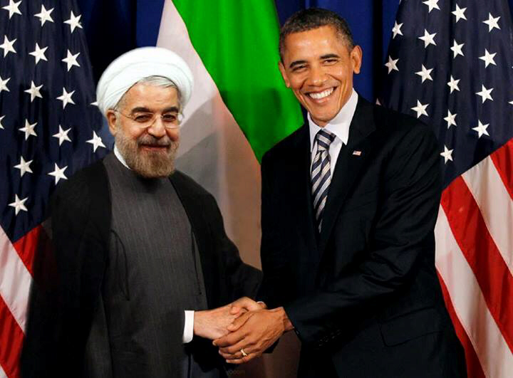 US President Barack Obama engages in friendly photo op with Iranian President Hassan Rohani
