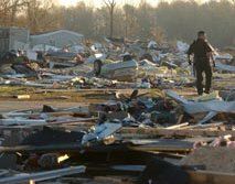 Of 320 mobile homes in the park, 100 were destroyed and 125 damaged