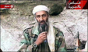 Osama bin Laden in video released shortly after attack