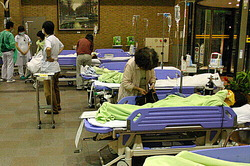 Patients who were sickened after inhaling chlorine gas