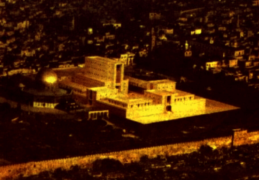 One proposed model of the Third Temple of Jerusalem has it built alongside the Dome of the Rock mosque