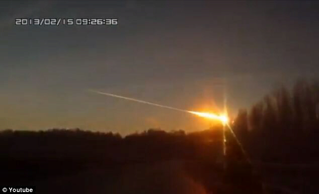 People in the city of Chelyabinsk saw a bright light then felt a huge shockwave