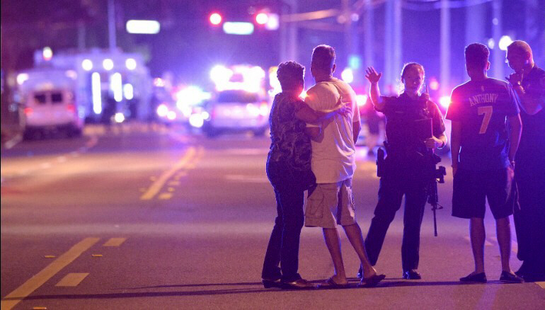 Police in Orlando direct family members away from scene
