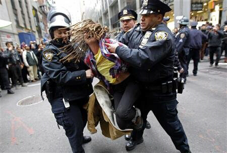 Police rough up and rape female protester