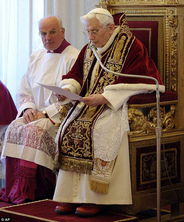 Pope Benedict XVI announces his resignation