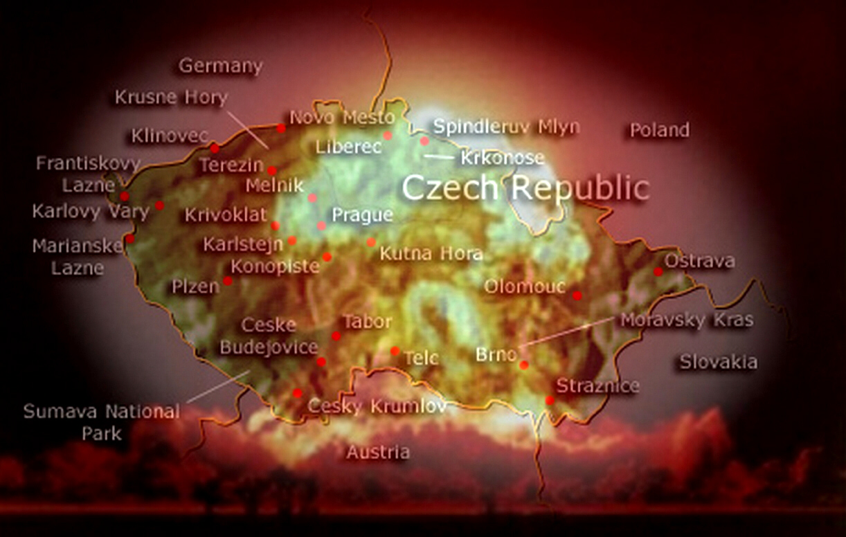 Prague destroyed by Russian nukes