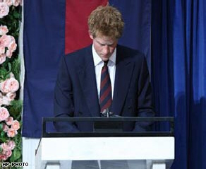 Prince Harry leads a tribute to his mother at her memorial service