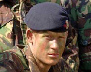 Prince Harry pictured while taking part in his final training exercise in Cyprus