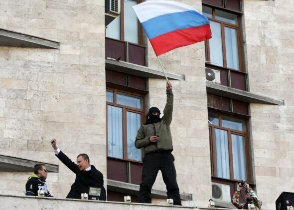 Pro-Russian protest is a farce orchestrated by PUTIN