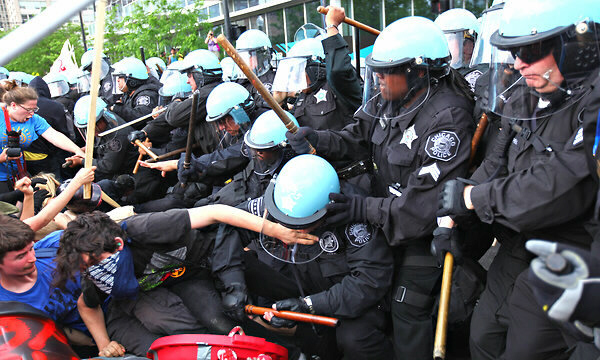 Protesters clashed with police at the NATO summit meeting in Chicago