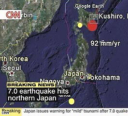 7.0 earthquake strikes Japan, causing tsunami warning only a few hours before historic 8.8 quake in Chile