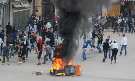 Riots in Algeria, where a man burned himself to death