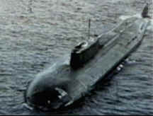 Oscar class Russian sub in Barents Sea