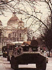 Russian tanks roll into Warsaw and Krakau