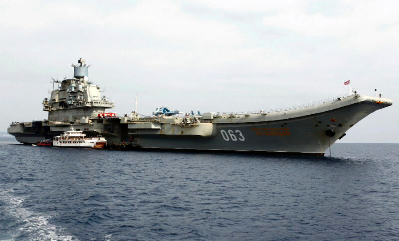 Russian aircraft carrier Admiral Kuznetsov deployed to Syria