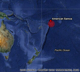 The initial Samoa Quake was a magnitude 8.3