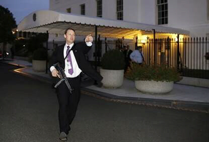 Secret Serviceman evacuates White House