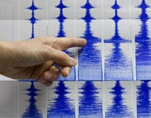 Seismograph readings show Taiwan 7.1 and 7.0 earthquakes