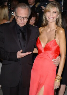 Larry King proudly displays his wife, Shawn King