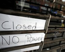 Shop in Queens, New York, is closed due to blackout