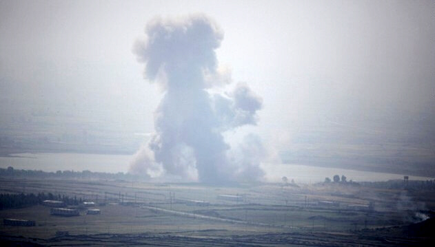 Smoke rises from explosion in Syrian village near Israeli border